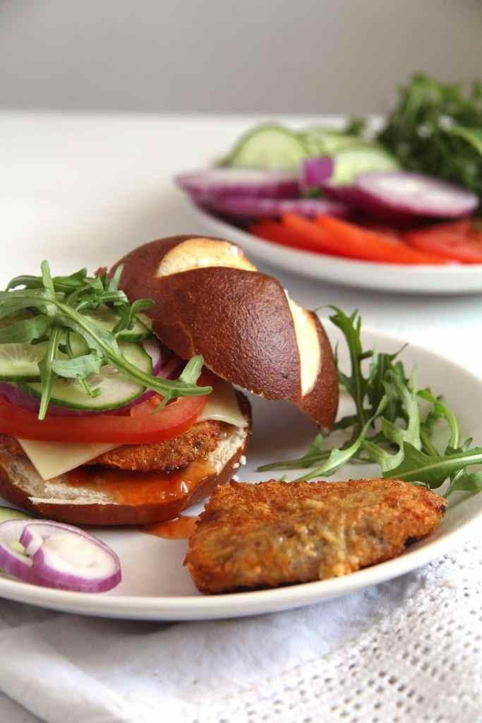 schnitzel oven 683x1024 How to Make Oven Baked Schnitzel and Schnitzel Burgers