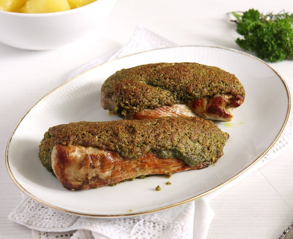 pork tenderloin Tender Pork Tenderloin with a Herb Breadcrumb Crust