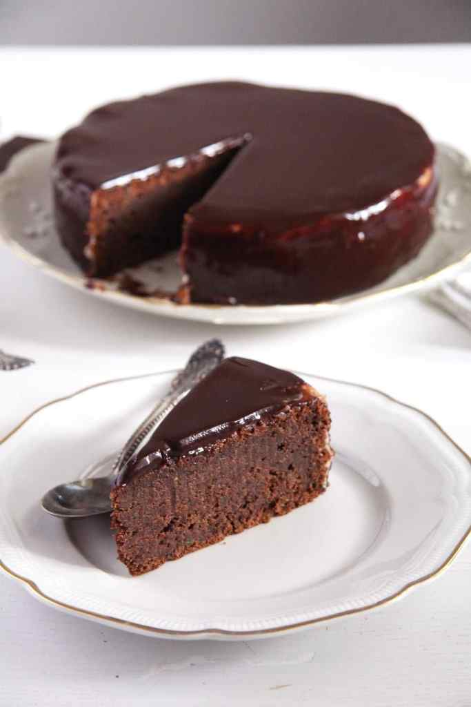 chocolate zucchini cake 683x1024 Dark Chocolate Zucchini Cake with Mirror Glaze
