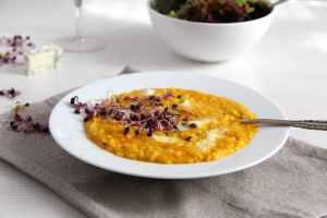 %name pumpkin risotto gorgonzola