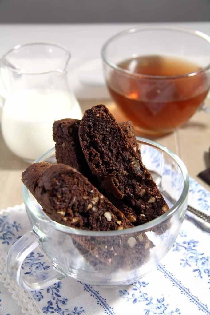 hazelnut biscotti nuts 683x1024 Crunchy Hazelnut Dark Chocolate Biscotti
