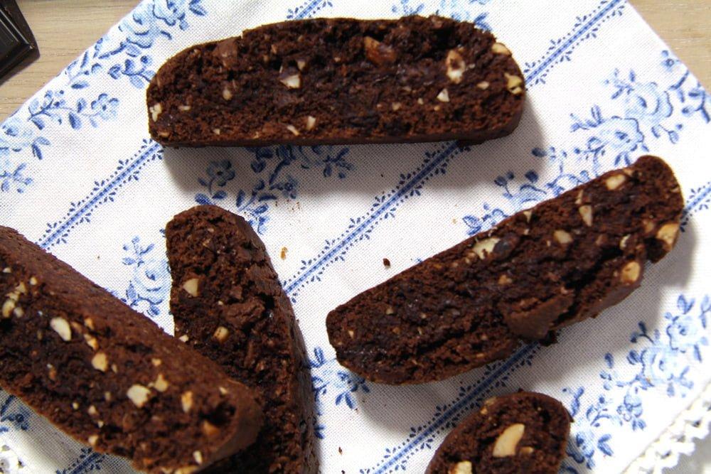 hazelnut biscotti Crunchy Hazelnut Dark Chocolate Biscotti