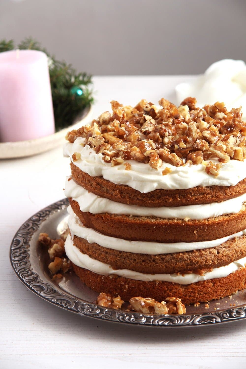 walnuts cake Walnut Chocolate Buttercream Cake