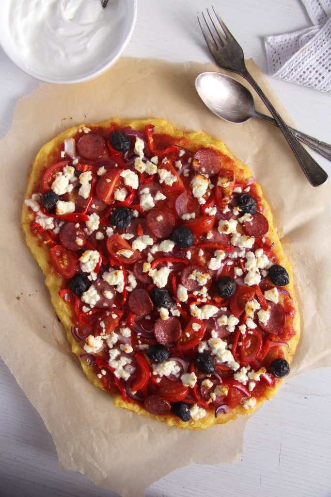 polenta pizza feta 683x1024 Polenta Pizza and Several Toppings Ideas