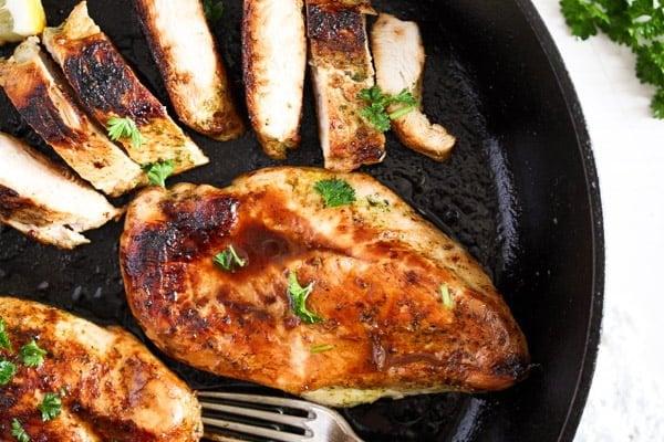 chicken breast marinated
