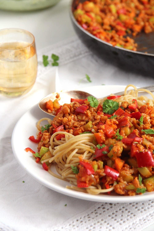soy granules sauce Vegan Soy Granules Sauce for Pasta