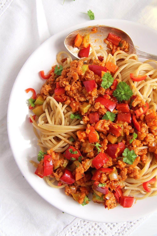 soy granules Vegan Soy Granules Sauce for Pasta