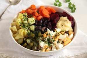 %name salad russe gherkins