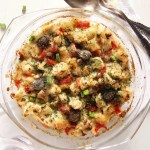 %name Healthy Cauliflower Feta Casserole with Olives and Dill