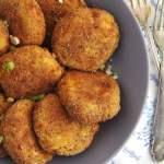 %name Crispy Oven Baked Cauliflower Potato Patties