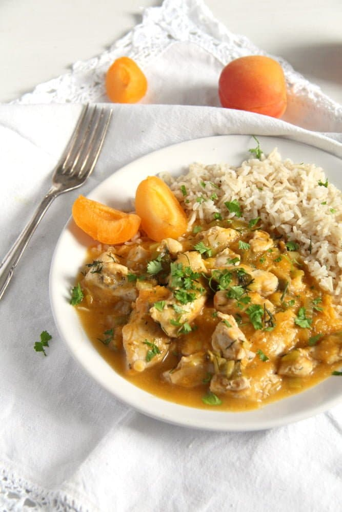 apricot chicken herbs Fresh Apricot Chicken Breast Stew with Herbs