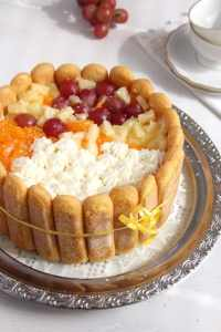 %name Fruit and Custard Charlotte    Romanian Diplomat Torte