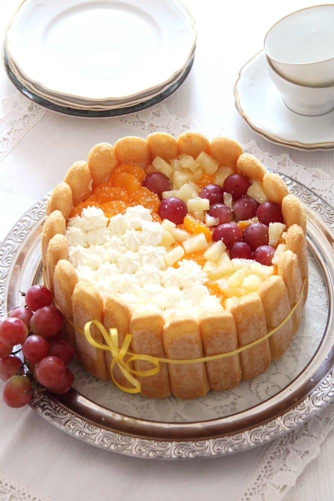 diplomat torte romanian Fruit and Custard Charlotte   Romanian Diplomat Torte