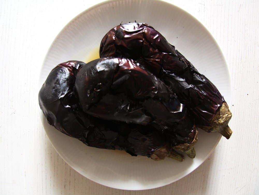 eggplant salad romanian vin Romanian Roasted Aubergine/Eggplant Salad   Vinete