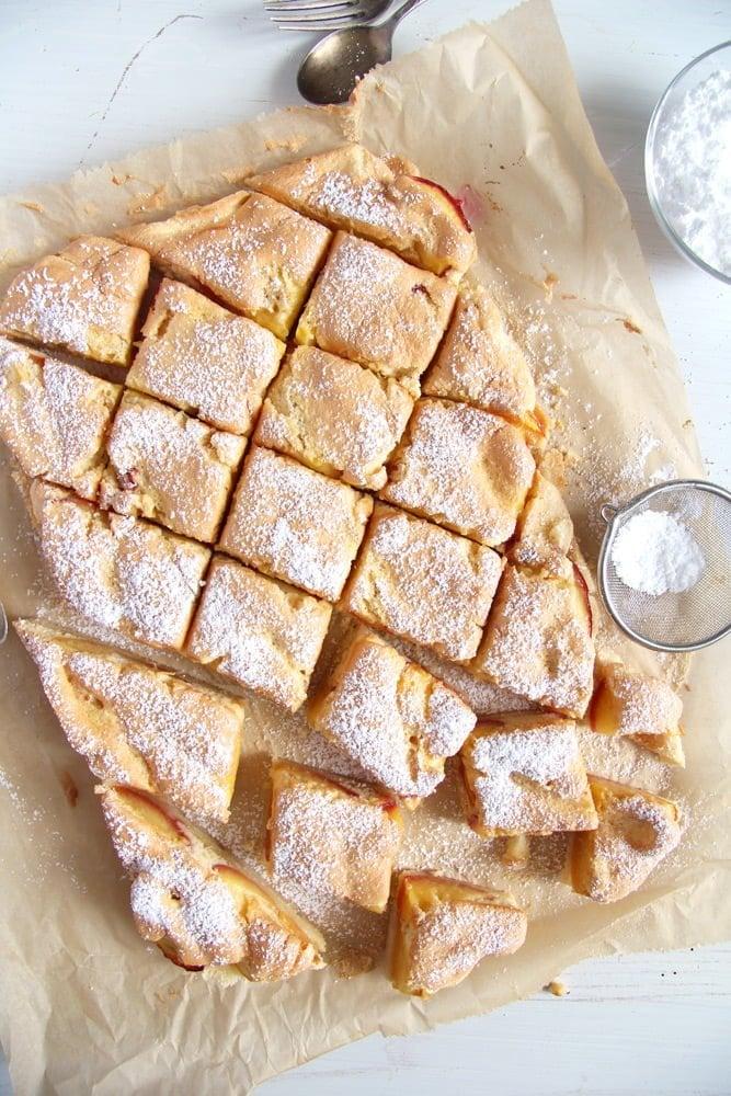 peach cake peach Easy Fresh Peach or Nectarine Cake   Romanian Cake Recipe