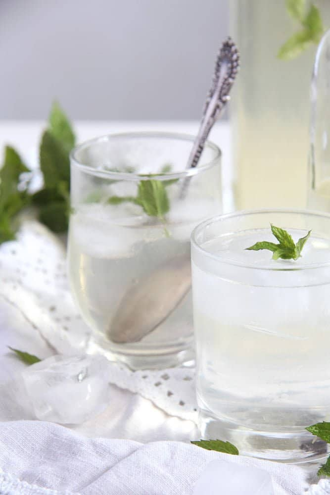 mint syrup fresh Simple and Delicious Fresh Mint Syrup with Lemons