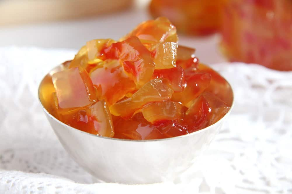 Watermelon Rind Jam or Candied Watermelon Rind in Syrup