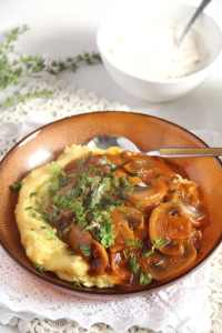 %name Easy and Delicious Mushrooms Stew with Herbs