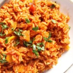 tomato rice with vegetables