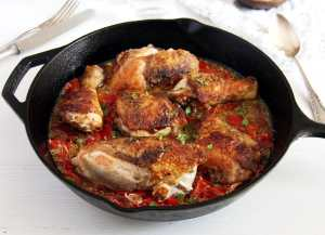 %name Skillet Chicken in Garlic and Roasted Pepper Sauce – Gypsy Recipe