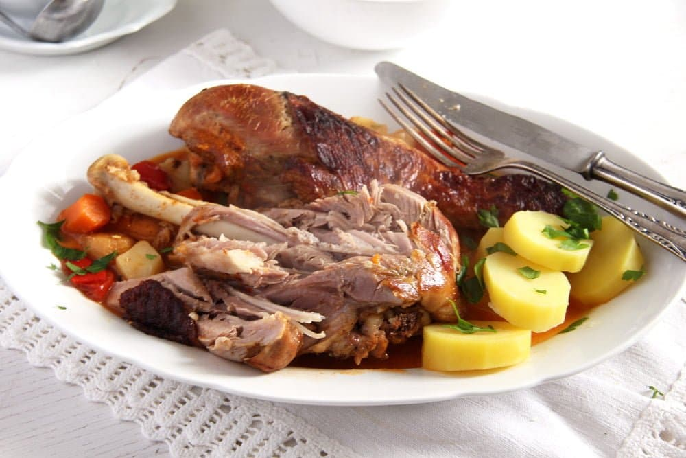 turkey legs Oven Roasted Turkey Drumsticks Recipe with Vegetables