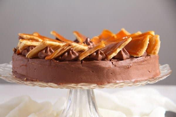 Dobos Torte Edited 1 Dobos Torte – Hungarian Cake with Chocolate Buttercream and Caramel
