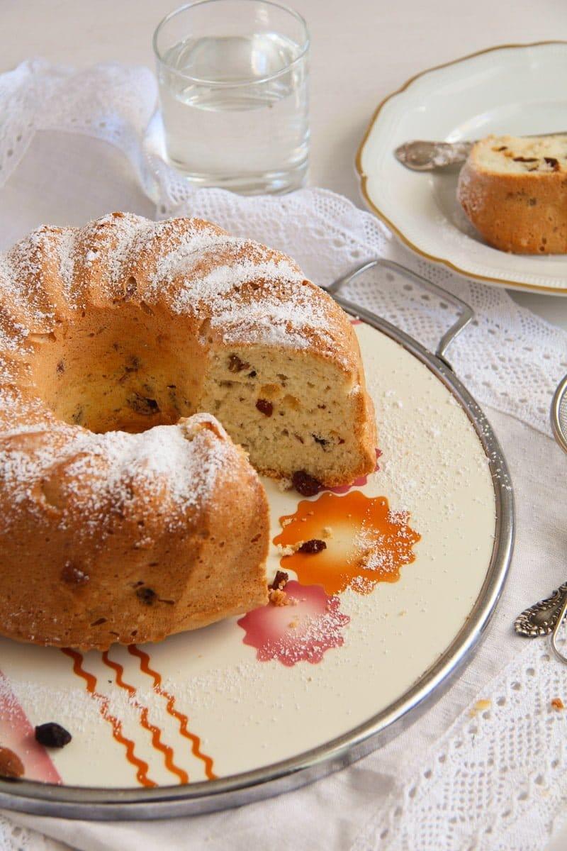ed 3 Bundt Cake with Leftover Egg Whites, Raisins and Almonds