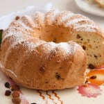 Bundt Cake with Leftover Egg Whites, Raisins and Almonds