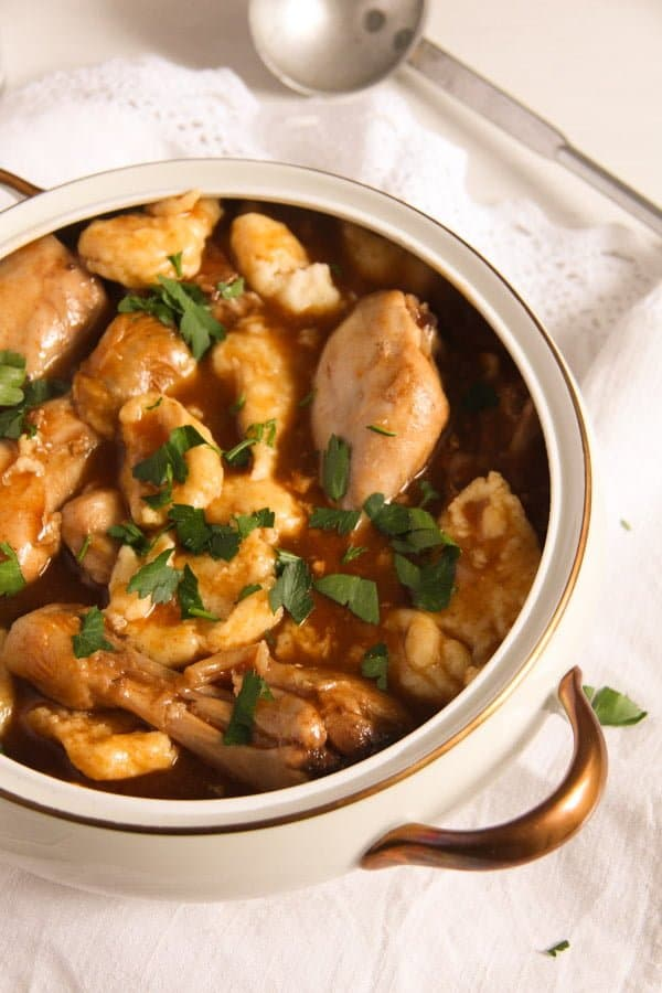 hungarian paprikash 1 Easy Hungarian Chicken Paprikash with Dumplings