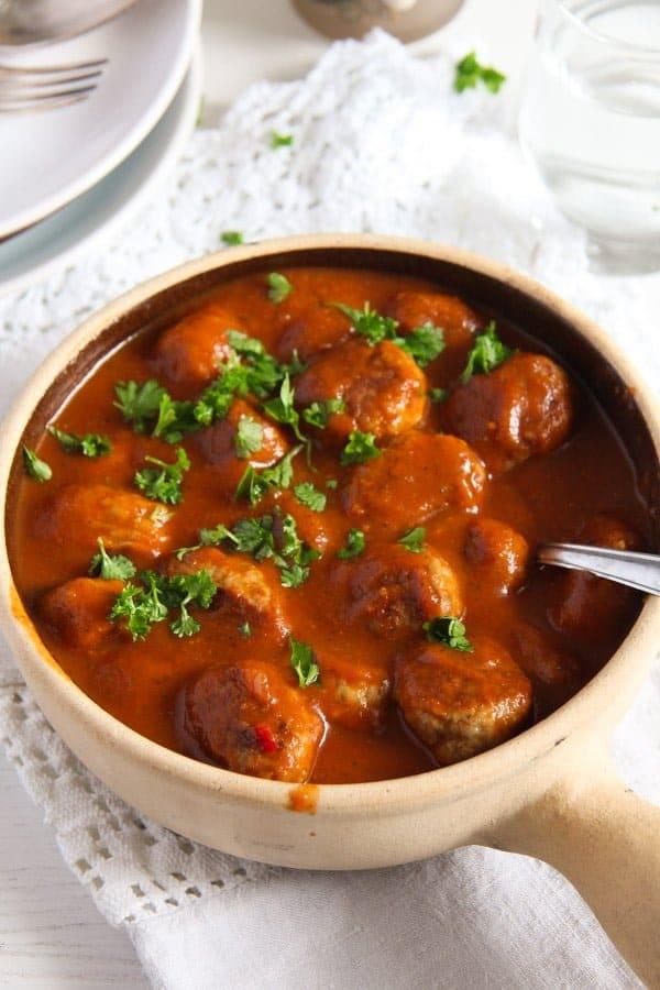 meatballs in tomato sauce ed 1 Meatballs in Tomato Sauce   Easy Pork Meatballs with Sauce