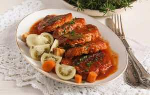%name Easy Roasted Pork in Garlic, Tomato and Paprika Sauce