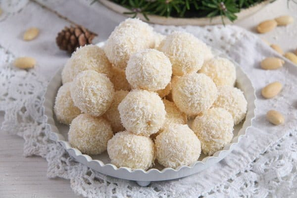 Three Ingredient Homemade Raffaello Coconut Almond Balls