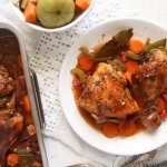 %name Oven Roasted Chicken Legs with Garlic and Vegetables