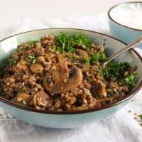 Roasted Buckwheat with Mushrooms and Onions – Polish Kasha
