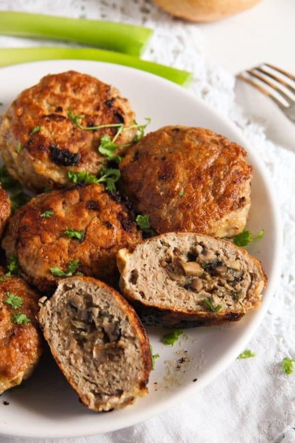 mushroom stuffed meatballs 5 Skillet Mushroom Stuffed Meatballs with Herbs – Polish Recipe