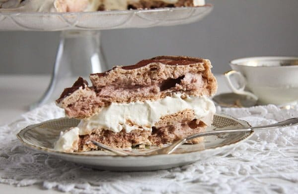 Meringue Cake with Mascarpone Filling – Polish Bezowy Torte
