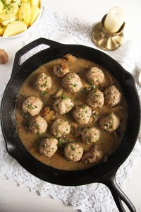 %name Polish Meatballs with Mushroom Sour Cream Gravy