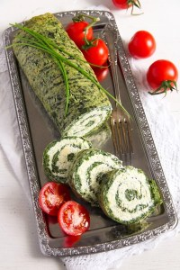 %name Spinach Roll with Cottage Cheese, Gouda and Herbs