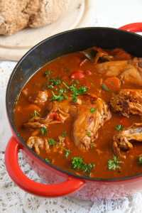 %name Hearty Rabbit Stew with Beer and Vegetables