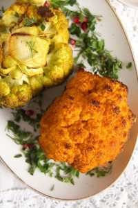 %name Simple and Spicy Whole Roasted Cauliflower