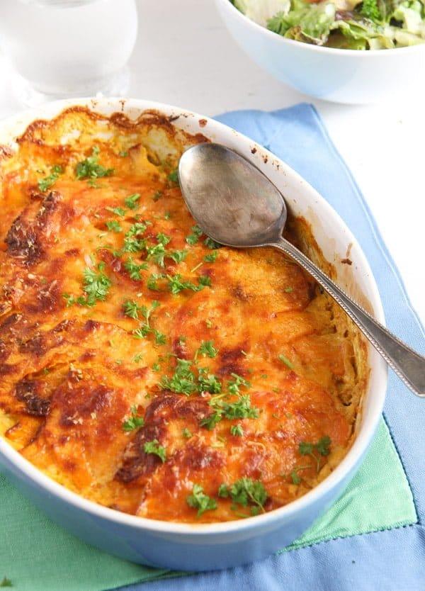 sweet potato stew 1 Easy Sweet Potato Gratin with Parmesan