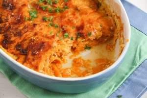 %name Easy Sweet Potato Gratin with Parmesan
