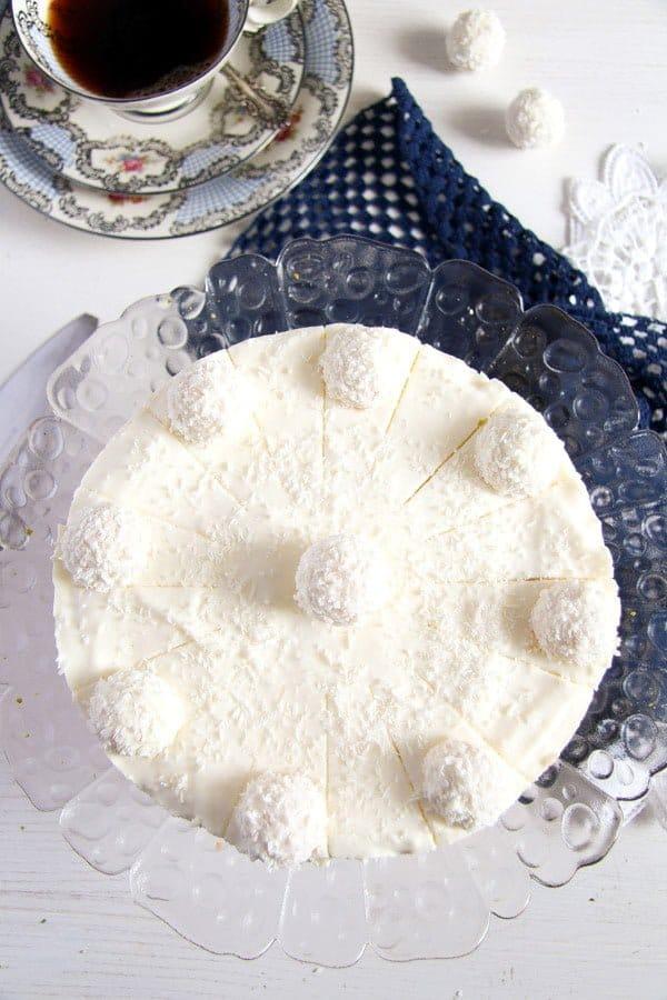 raffello coconut cake 1 Easy Pineapple Coconut Cream Cake with Raffaello