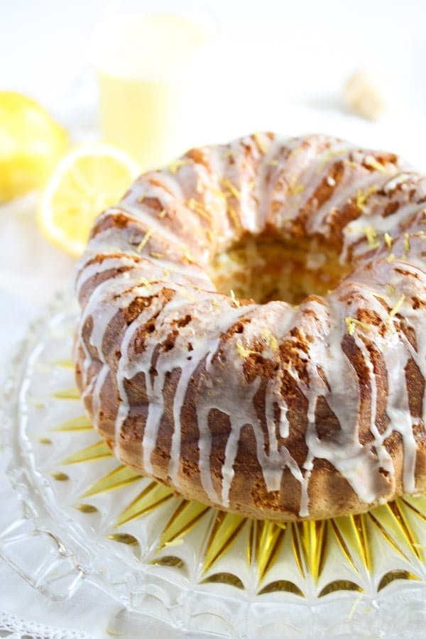 limoncello cake 1 Limoncello Cake with Lemon Glaze – Bundt Cake Recipe