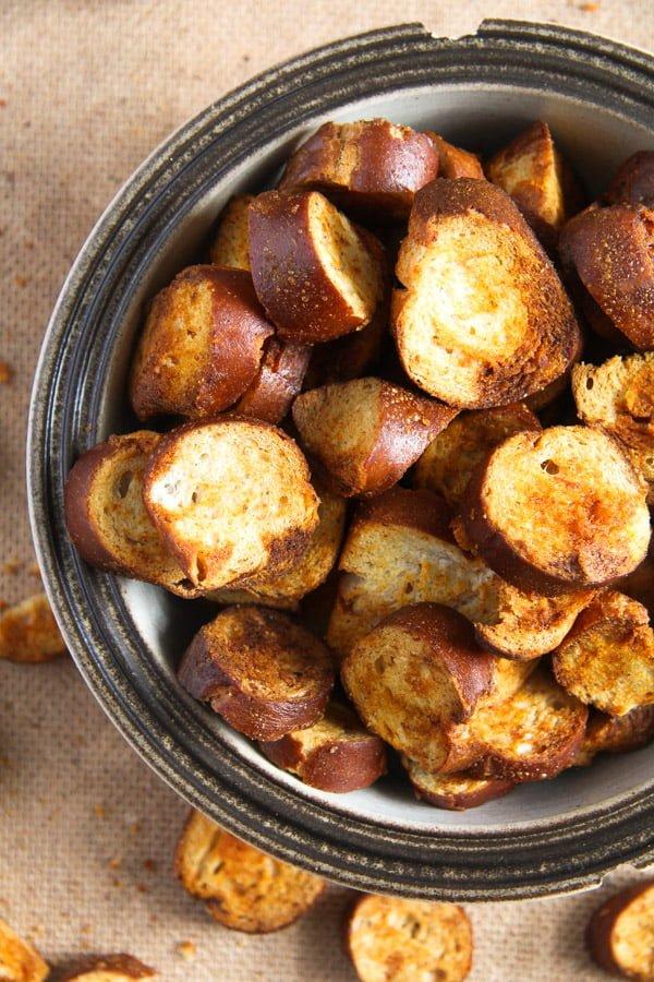 pretzel chips 13 How to Make Pretzel Chips Using Leftover Soft Pretzels