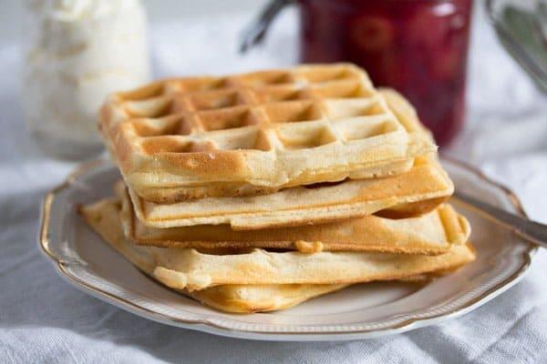 belgian waffles 1 Homemade Belgian Waffle Recipe – Belgian Food