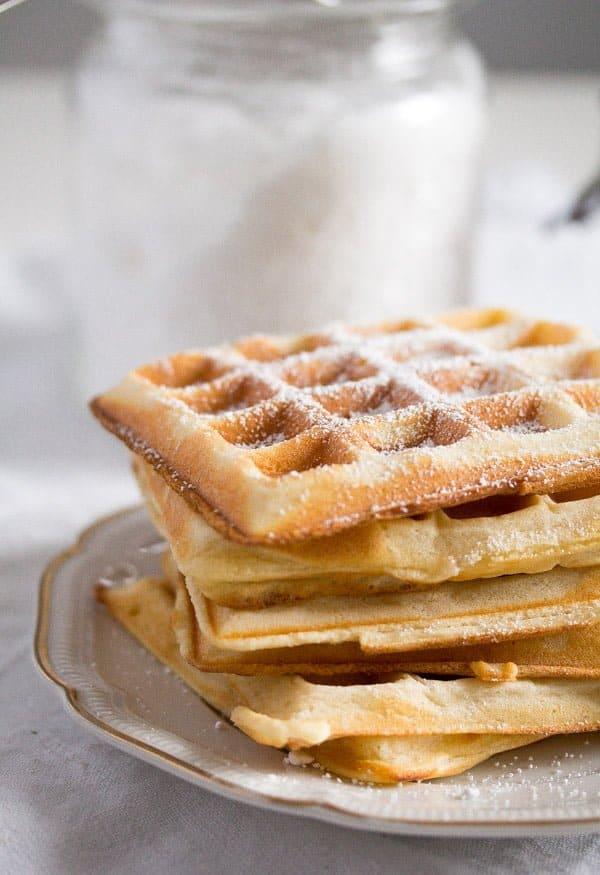 belgian waffles 2 Homemade Belgian Waffle Recipe – Belgian Food