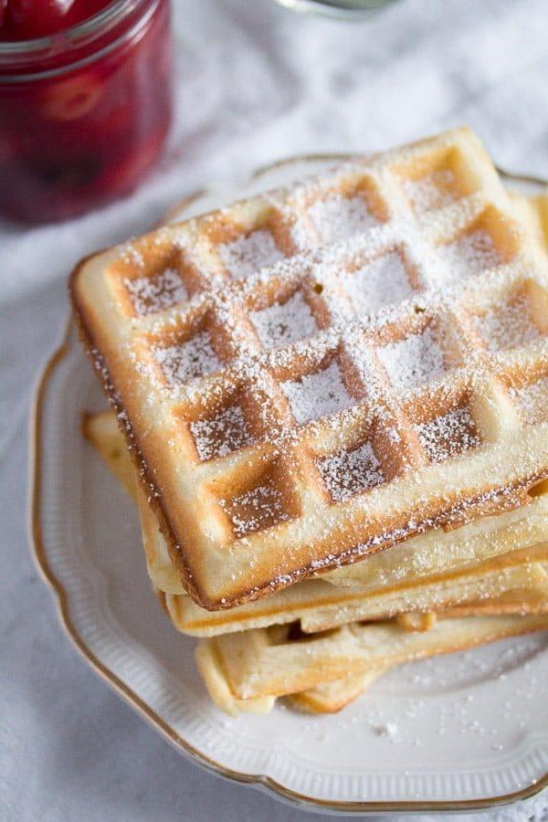 belgian waffles 3 Homemade Belgian Waffle Recipe – Belgian Food
