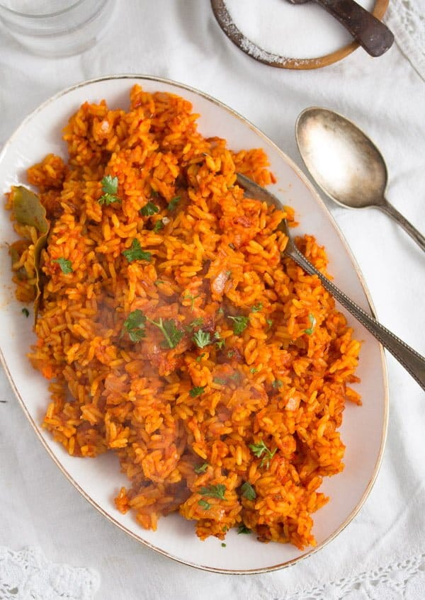 jollof rice 1 Spicy Jollof Rice with Tomatoes – Nigerian Food