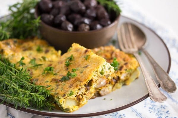 tunisian tajine 4 Tunisian Tajine – Frittata with Chicken and Potatoes – Tunisian Food